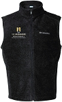 Men's Columbia Steens Mountain Fleece Vest with UNC Greensboro Bryan School embroidered logo.