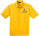 Men's Nike Dri-Fit Micro Pique Polo with UNC Greensboro Bryan School embroidered logo.
