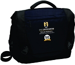 Computer Messenger Bag with UNC Greensboro Bryan School embroidered logo and 50th Anniversary.