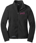 Ladies Edie Bauer Full Zip Fleece Jacket with Dance Studio logo embroidered left chest.