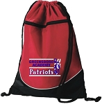 Tri-Color Drawstring bag with Greensboro Academy Embroidered Logo