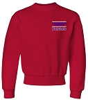 Jerzees Youth/Adult Crew Sweatshirt with Greensboro Academy embroidered left chest.