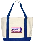 Premium Heavy Weight Cotton Boat Tote with Greensboro Academy Embroidered Logo.