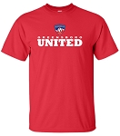 Youth/Adult Red Short Sleeve Training Tee with Greensboro United logo