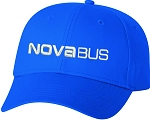 Twill Cap (Royal) with Nova Bus logo embroidered full front.