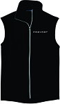 Mens Port Authority® Microfleece Vest with Embroidered Prevost logo.