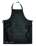 Artisan Collection jeans Stitch Denim Bib Apron with Prevost embroidered logo