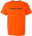 Comfort Colors Short Sleeve T-Shirt with Prevost logo imprinted full front.