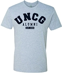 Men's Premium Short Sleeve Crew with UNC Greensboro Alumni imprinted logo.