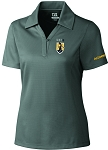 Ladies Cutter & Buck DryTec Genre  Polo with UNC Greensboro Minerva embroidered logo.
