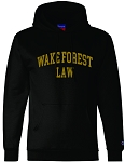 Champion - Double Dry Eco® Hooded Sweatshirt with Wake Forest Law imprinted full front.