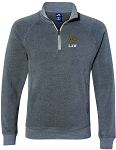 Adult Triblend Quarter-Zip with Wake Law embroidered left chest.
