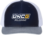 Snapback Trucker Cap with UNC Greensboro Alumni embroidered logo