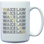 15oz Coffee Mug imprinted with Wake Law Step and Repeat