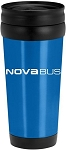 16oz Stainless Steel Tumbler (Blue) with Nova Bus imprinted logo.