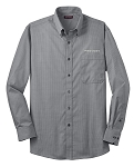 Men's Mini-Check Non Iron Button Down with Prevost embroidered logo.