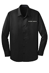 Men's Stretch Poplin Shirt with Prevost embroidered logo.