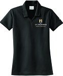 Ladies Nike Dri-Fit Micro Pique Polo embroidered with UNC Greensboro School of Education logo.