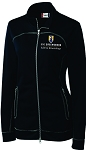 (Navy) Ladies Cutter & Buck Helsa Full Zip with embroidered  UNC Greensboro EdD in Kinesiology logo.