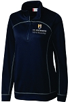 (Navy) Ladies Cutter & Buck Helsa Half Zip with embroidered  UNC Greensboro EdD in Kinesiology logo.