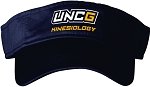 Solid Navy Visor with UNC Greensboro EdD in Kinesiology embroidered logo.