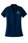 (Navy) Ladies Dry Zone® UV Micro-Mesh Polo with Embroidered EdD in Kinesiology logo