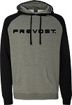 Raglan Hooded Pullover with Prevost imprinted logo.