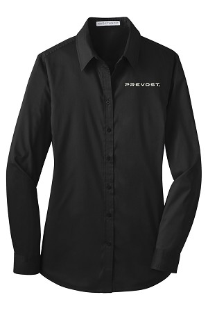 Ladies SuperPro Oxford Shirt with Prevost embroidered logo.