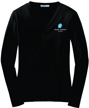 Ladies Modern Stretch Cotton Cardigan with Embroidered WJ logo