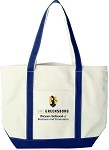Cotton Canvas Tote with UNC Greensboro Bryan School embroidered logo.