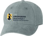 Unstructured Cap with UNC Greensboro Bryan School embroidered logo.