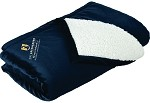Mountain Lodge Blanket with UNC Greensboro Bryan School embroidered logo.