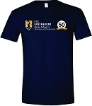 Unisex Softstyle T-Shirt with UNCG Bryan School and 50th Anniversary imprinted on front.