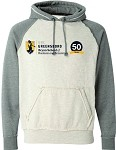 J. America Vintage Heather Hooded Sweatshirt with UNC Greensboro Bryan School imprinted logo