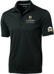 Men's Sport-Tek® PosiCharge® Micro-Mesh Polo with UNC Greensboro Bryan School embroidered logo and 50th Anniversary.