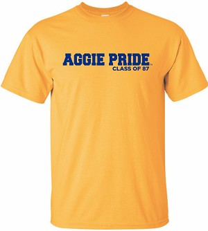 Unisex Short Sleeve T-Shirt with Aggie Pride Class of 87 imprinted Full Front