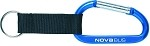 Anodized Carabiner (Blue) with Nova Bus imprinted logo.