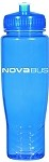 Poly Clean Sport Bottle (Blue) with Nova Bus imprinted logo.