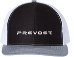 Twill Mesh Snapback with Embroidered Prevost logo