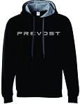 Unisex Heavy Blend™ Contrast-Color Hooded Sweatshirt with Prevost imprinted logo.