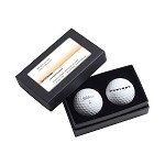 Titleist 2-Ball Business Card Box imprinted with Prevost logo