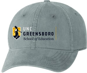 Unstructured Cap with UNC Greensboro School of Education embroidered logo.