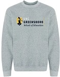 Heavy Blend Crewneck Sweatshirt with UNC Greensboro School of Education logo.