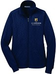 Ladies Slub Fleece Full Zip Jacket embroidered with UNC Greensboro School of Education logo.