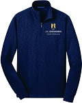 Mens Slub Fleece 1/4-Zip Pullover embroidered with UNC Greensboro School of Education logo.