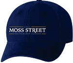 Team Sportsman Unstructured Dad Cap with Moss Street embroidered logo.