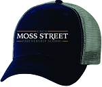 Team Sportsman The Duke Washed Trucker Cap with Moss Street embroidered logo.