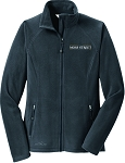 Ladies Eddie Bauer Full-Zip Microfleece Jacket with Moss Street embroidered logo.