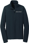 Mens Eddie Bauer 1/2-Zip Microfleece Jacket with Moss Street embroidered logo.