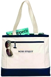Gemline Utility Tote with embroidered Moss Street.